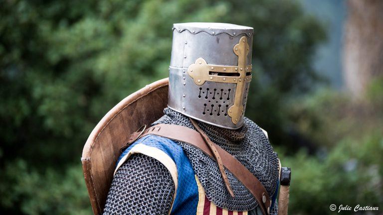 Spectacle de chevaliers au château de Peyrelade