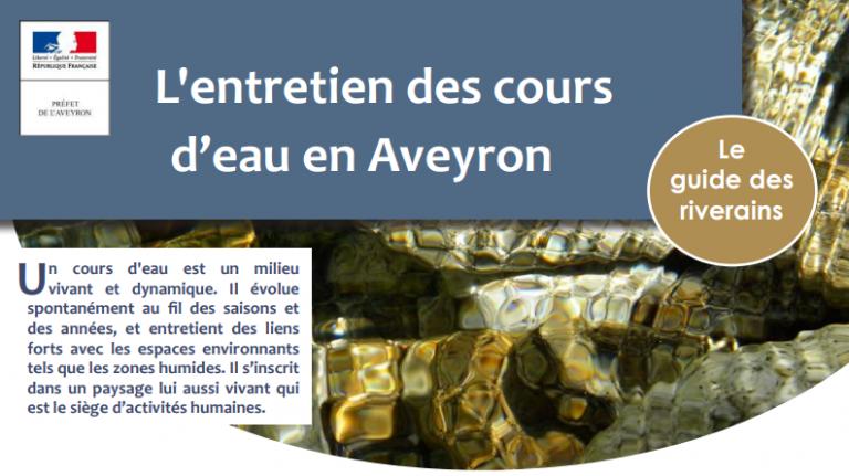 Guide du riverain, l'entretien des cours d'eau en Aveyron